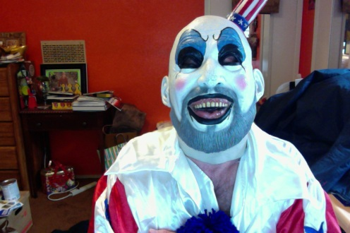 Thomas Outt as Sid Haig as Captain Spaulding via the marvel of Web Camera.