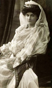 Princess Marie Bonaparte @ the time of her marriage to Prince George of Greece & Denmark, 21 November 1907.