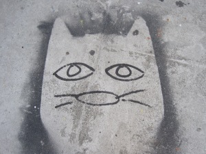 Kiity Cat Sidewalk-San Francisco Street Art