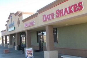 Photograph from Dateland, Arizona website, a place near Yuma that sells date milkshakes!
