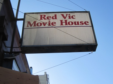 Sign from the Red Vic Theatre, that closed July 2011 & seems soon to disappear!