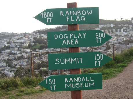 For the directionally challenged, how to get where on Corona Heights.