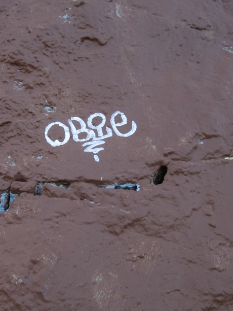 Someone felt compelled to embellish Corona Heights with script.  It needs no words.  It stands well enough without them.