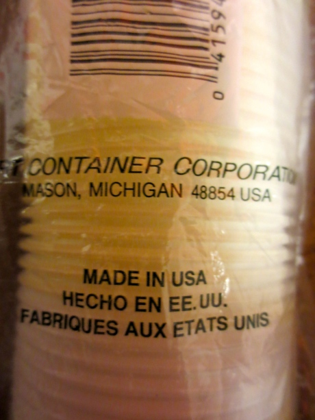 "These priceless & historic items from DART CONTAINER CORPORATION ""Made in the USA.""  They should be worth enough to finance my breakthrough role & provide Paramount with enough profit to buy another country for me."""