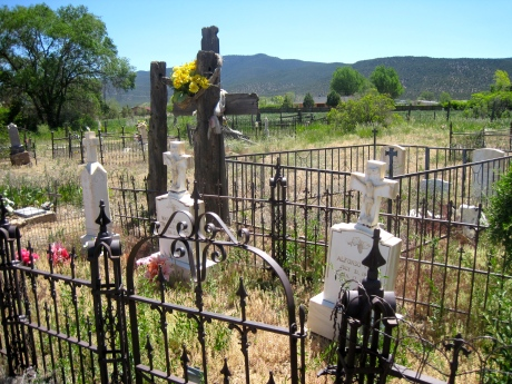 The fence of finality, tranquility, East of Taos, New Mexico, May 2012