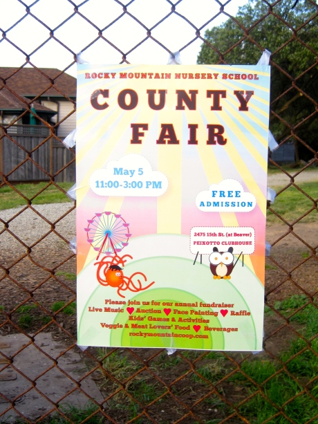 County Fair sign, reminding me of such things that had far less competition for one's time back in Indiana.