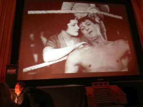 The Ring, 1927, featuring Lilian Hall-Davis & Carl Brisson.  Still taken from Castro Theatre Screen projection 15 June 2013.