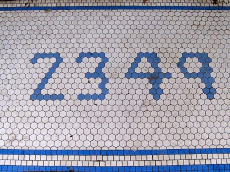 If anyone out there knows the correct name for this type of tiling, I will be happy to update this blog & include the information.  I like it, brings back memories...