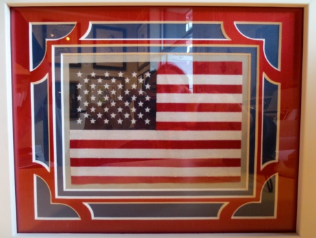 "Matting made for a ""Grand Old Flag"" & a perfect gift for a beloved cousin.  The matting is exquisite, but does not overwhelm the object it enhances.  A perfect balance."