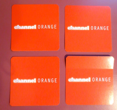 Here's the word without the fruit. These are stickers I found someplace & lo & behold, they became part of an orange rant.