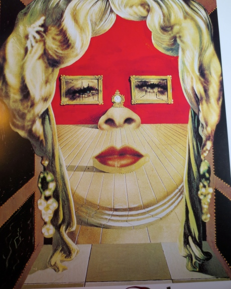 Photograph of Salavor Dali's image of Mae West, on display @ Back To The Picture.