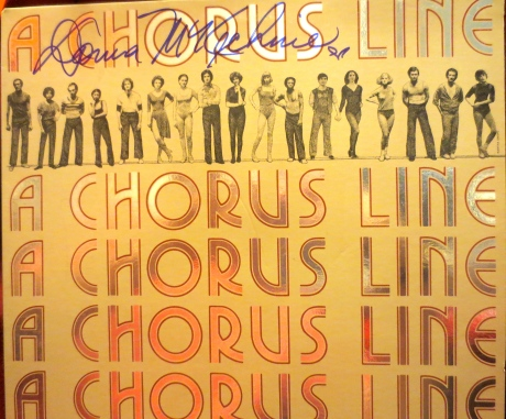 Autographed by Donna McKechnie, my copy of A CHORUS LINE.