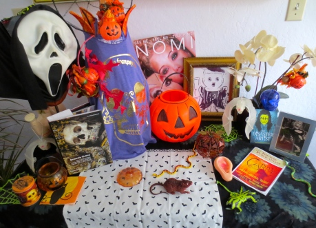 This is my very first altar dedicated to Dia de los Muertos--from Corona Heights with love!