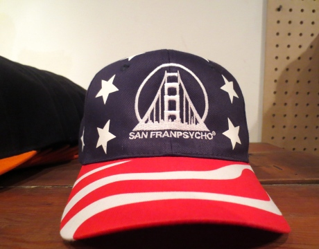 A cap that would tempt Edith Beale in her All American Flag waving choreography!