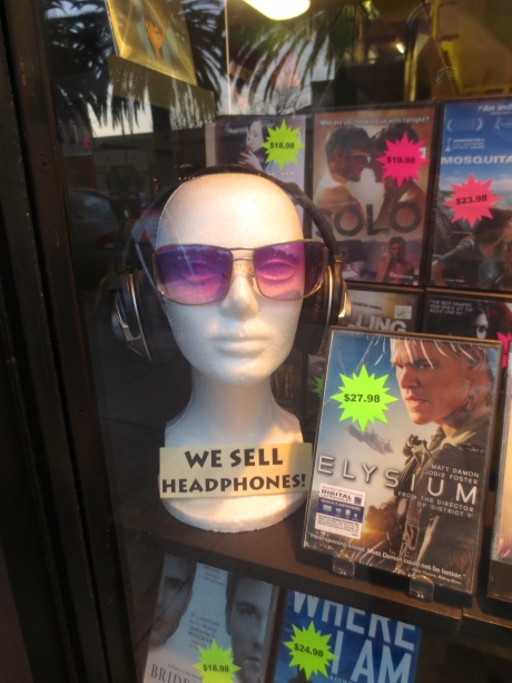 They sell headphones for the loner, or those who like to enjoy late, late viewings, but don't wish to disturb others.
