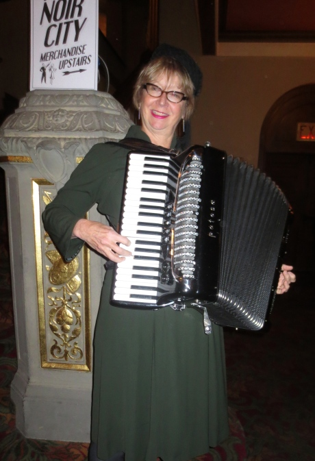 Big Lou, accordion Princess--more Royalty in Noir than in Buckingham Palace this year!  http://www.accordionprincess.com/id68.html