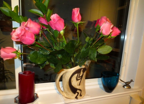 Beautiful roses help put the Saint back in Valentine's Day for all of us.