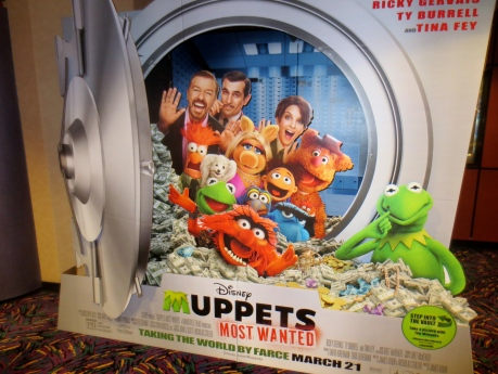 This is the original version of the Disney Muppets film standee for Most Wanted.  Here you can see the image of the ever brilliant Tina Fey.